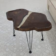 Журнальный стол Binaros из торцевого спила двуствольного карагача