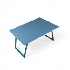Журнальный стол Souty blue c металлическими ножками и крашеной столешницей