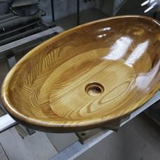 Накладная раковина Ellops из массива термокарагача