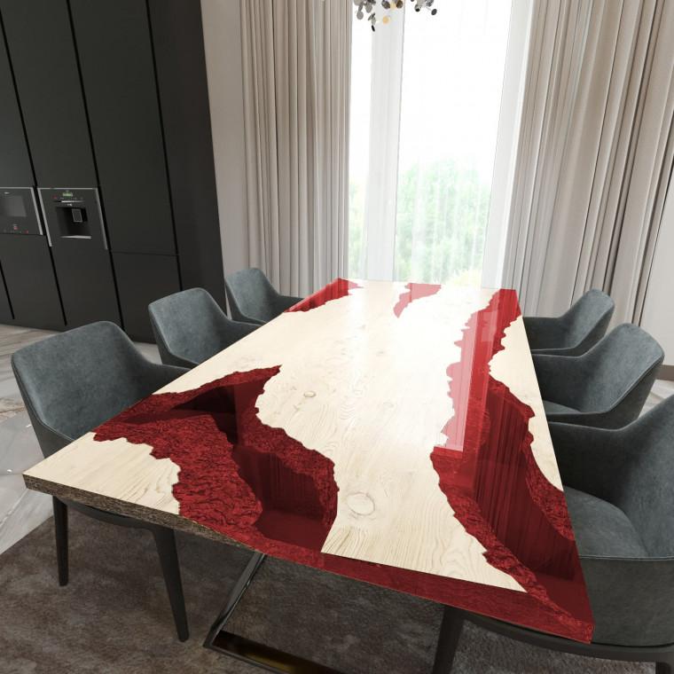 Обеденный стол река из слэбов дуба Neila C11