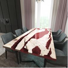 Обеденный стол река из слэбов карагача Lifense C11