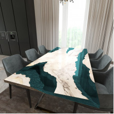 Обеденный стол река из слэбов карагача Neila C05