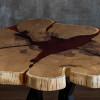 Обеденный стол Flowerry из поперечного спила шелковицы