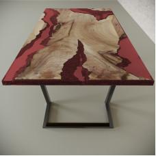 Обеденный стол река из слэбов карагача Neila C11