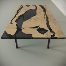 Обеденный стол река из слэбов дуба Lifense C10