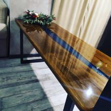 Обеденный стол Caoly с синей заливкой