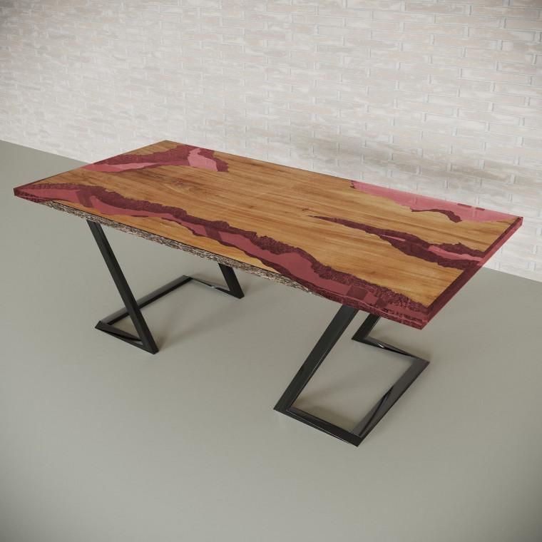 Обеденный стол река из слэбов клена Neila C11