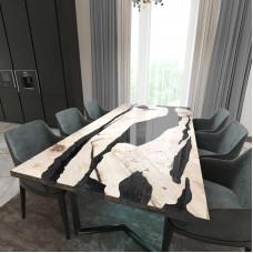 Обеденный стол река из слэбов карагача Lifense C10